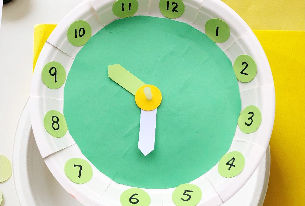 Paper Plate Clock Craft for Kids